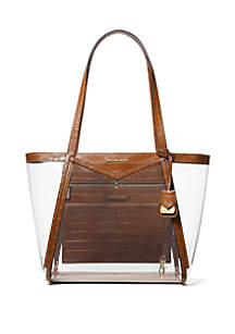 ab18c94733bf MICHAEL Michael Kors Polly Medium Zip Tote · MICHAEL Michael Kors Whitney  Large Clear Tote Bag