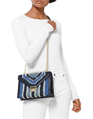 2714e2b6cd2eb7 MICHAEL Michael Kors Whitney Large Denim Shoulder Bag | belk
