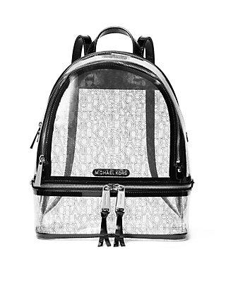 f52db1df06d46b MICHAEL Michael Kors. MICHAEL Michael Kors Rhea Medium Clear Backpack