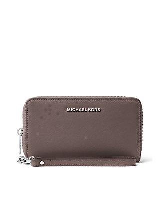 8fc473a08389 MICHAEL Michael Kors. MICHAEL Michael Kors Jet Set Travel Large Saffiano  Leather Smartphone Wristlet