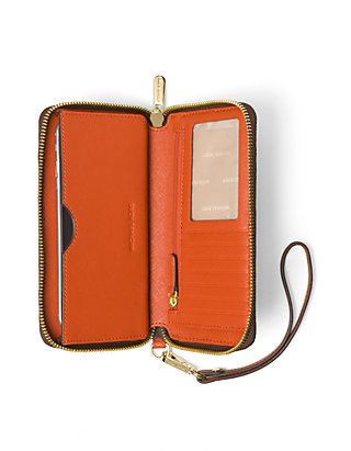 best website 1efb0 05f2e MICHAEL Michael Kors Jet Set Travel Large Flat Multifunction Phone Case