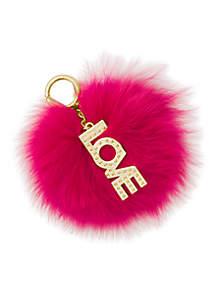 Love Pom Pom Keychain