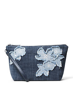 MICHAEL Michael Kors Denim Item Medium Pouch