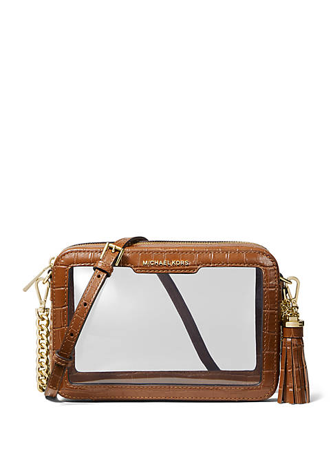 MICHAEL Michael Kors Medium Clear Camera Crossbody Bag