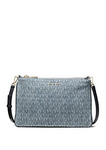 MICHAEL Michael Kors Large Denim Logo Crossbody Bag