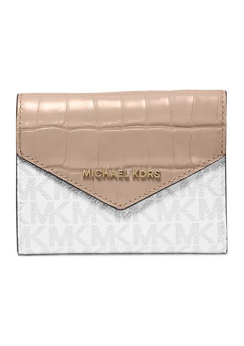 MICHAEL Michael Kors Medium Logo and Leather Envelope