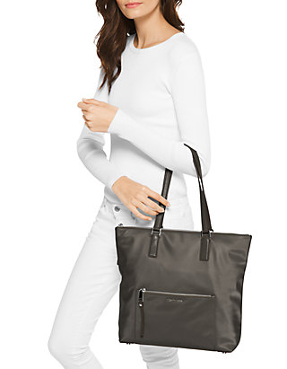 ff2090c3b51af1 MICHAEL Michael Kors Ariana Large Nylon and Leather Tote | belk