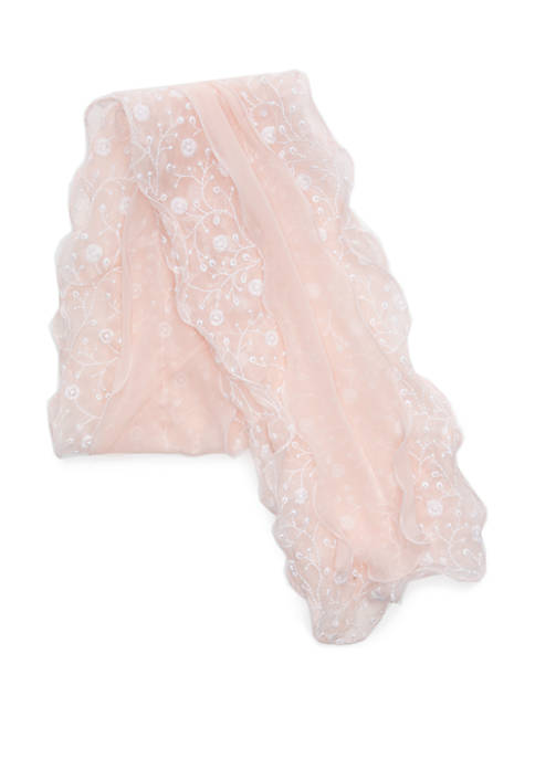 Collection XIIX Embroidered Ruffle Boa