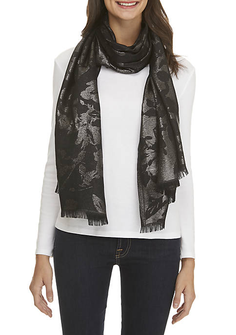 Collection XIIX Floral Evening Jacquard Wrap