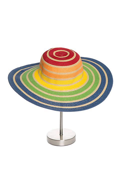 Collection XIIX Color Block Stripe Floppy Hat