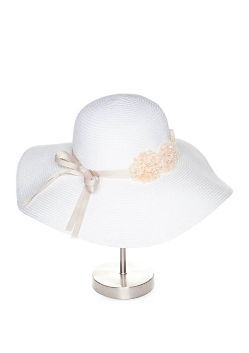 Collection XIIX Floppy Hat with Flowers