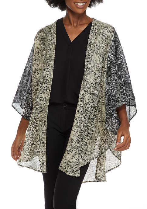 Accessory Street Double Dot Tie Front Kimono