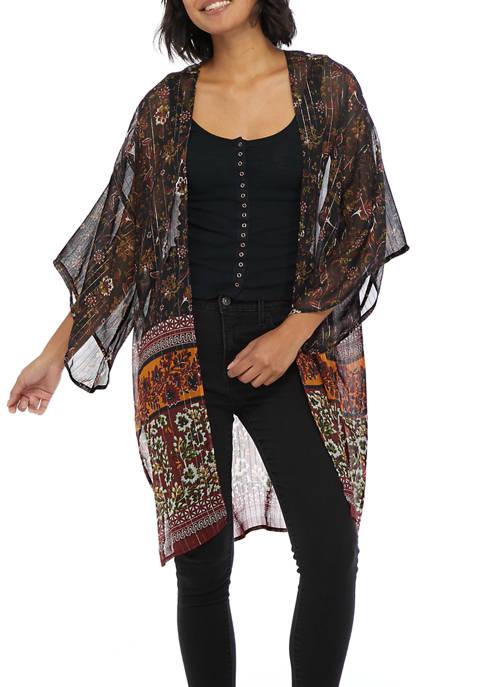 Collection XIIX Boho Stripe Kimono