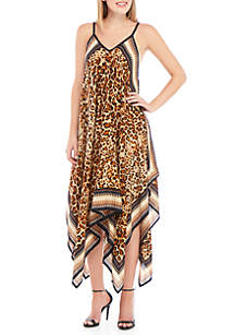 Collection XIIX Striped Leopard Dress