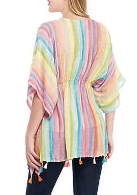 b080518611 Collection XIIX Rainbow Poncho Collection XIIX Rainbow Poncho