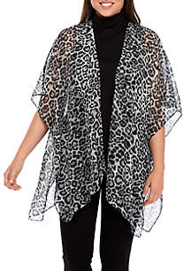 Collection XIIX Leopard Single Layer Cover Scarf