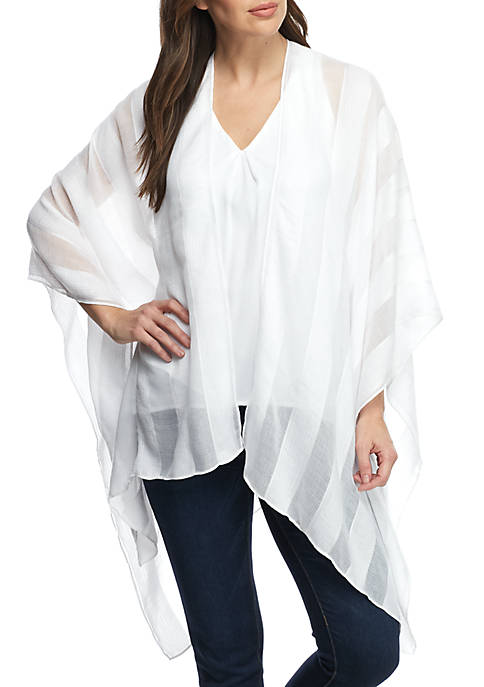Collection XIIX Sheer Stripe Cover Up