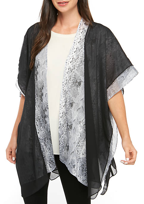 Accessory Street Python Double Lace Cover Up