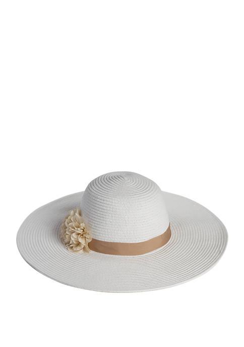 Accessory Street Chiffon Floral Floppy Hat