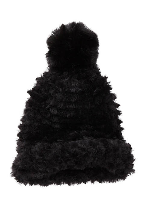 Collection XIIX Fur Beanie with Pom