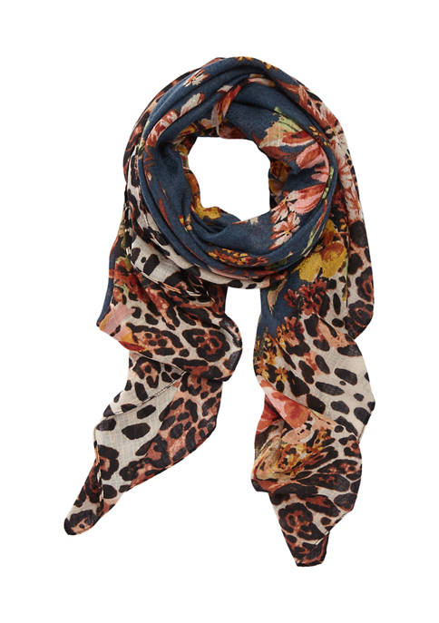 Collection XIIX Leopard Blooms Square Scarf