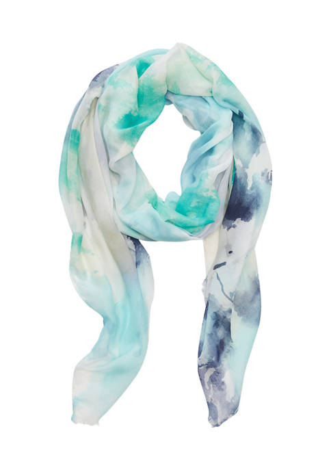 Accessory Street Watercolor Oblong Scarf