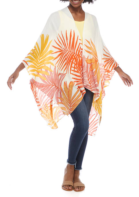 Collection XIIX Womens Palm Border Topper
