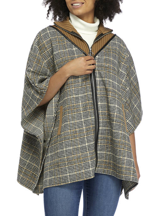 Collection XIIX Coat Topper with Sweater Neck