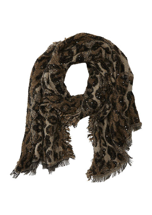 Collection XIIX Leopard Shine Blanket Scarf