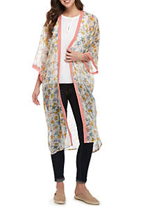 a2d13092ee ... Collection XIIX Washed Floral Kimono