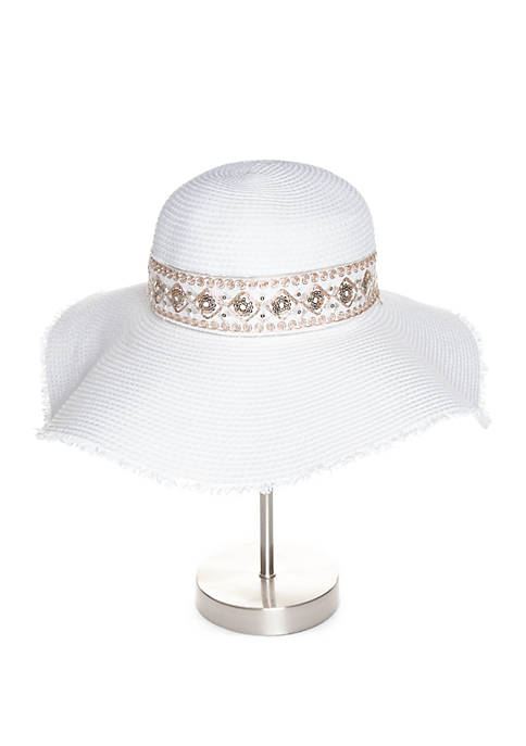 Collection XIIX Floppy Hat with Embellished Band