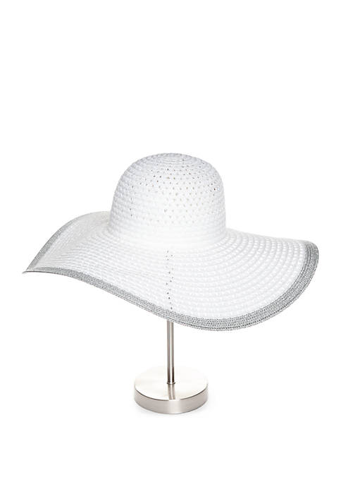 Collection XIIX Floppy Hat with Metallic Trim