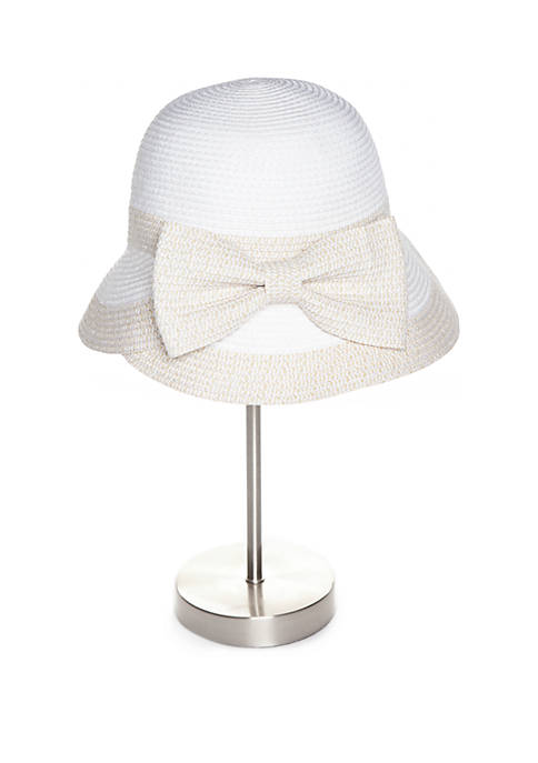 Collection XIIX Tweeded Cloche Hat with Petal Bow