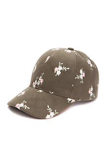 Embroidered Wool Baseball Hat