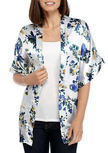 Botanical Watercolor Kimono