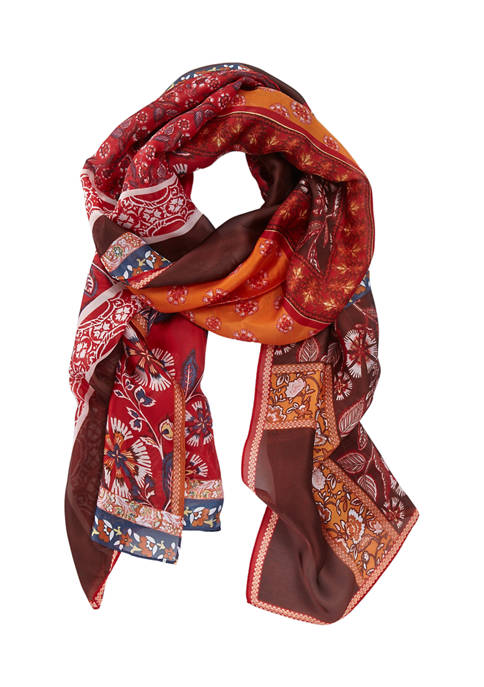 Patchwork Paisley Oblong Scarf