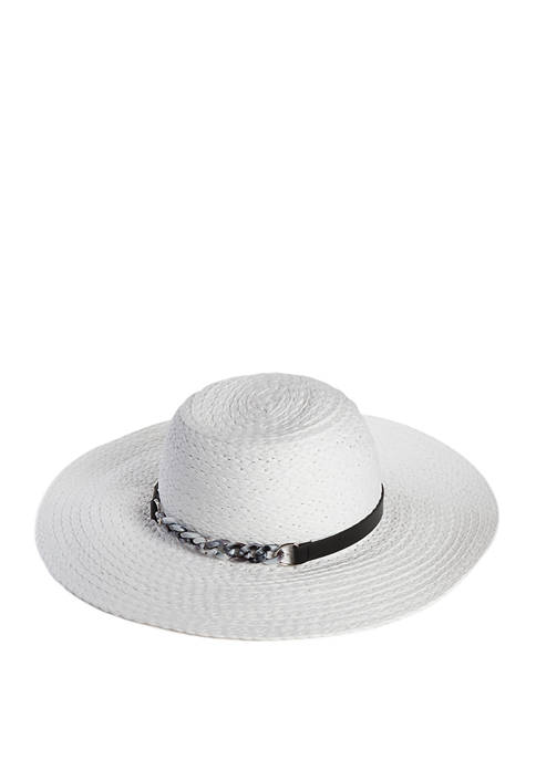 Accessory Street Floppy Hat with Resin Chain