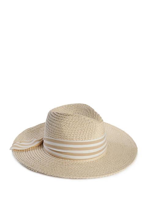 Accessory Street Fabric Band Braided Panama Hat