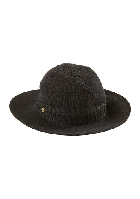 Packable Chunky Knit Panama Hat