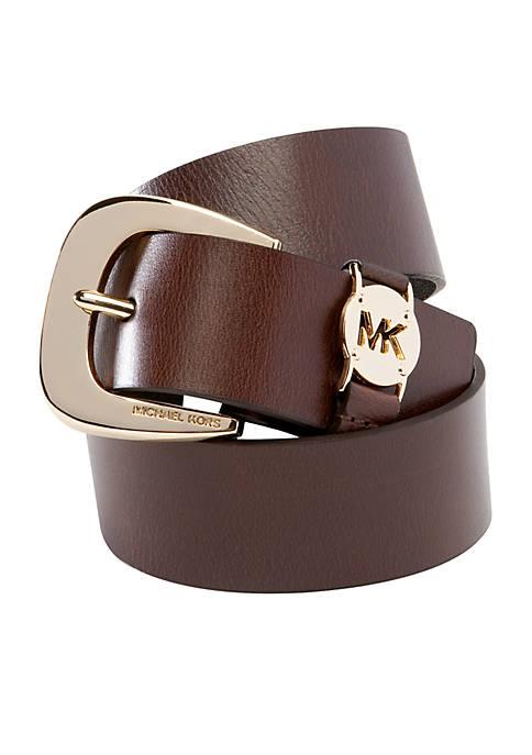 Michael Kors Leather Logo Belt