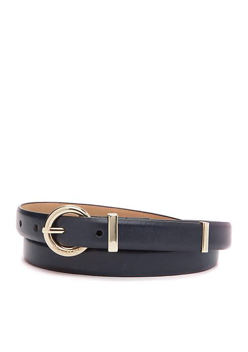 Michael Kors Skinny Vogue Leather Belt