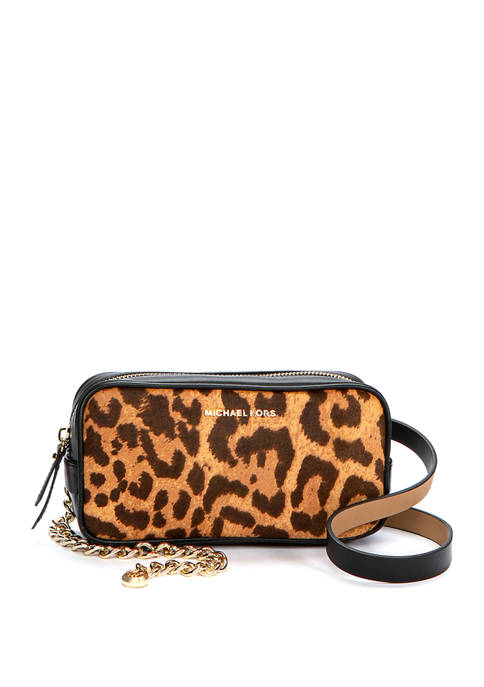 Michael Kors Haircalf Belt Bag With Chain Strap