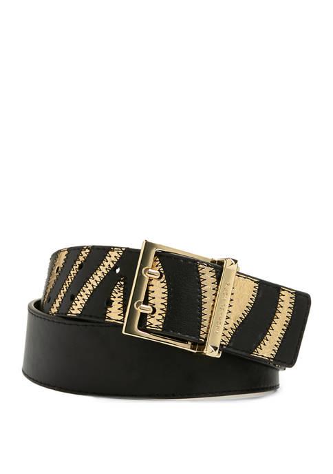 Michael Kors 42 Millimeter Zebra Belt