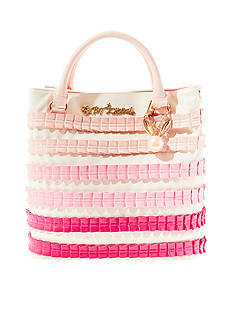 Betsey Johnson Pleats And Thank You North South Tote