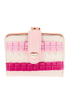 Betsey Johnson Pleats And Thank You Mini Wallet