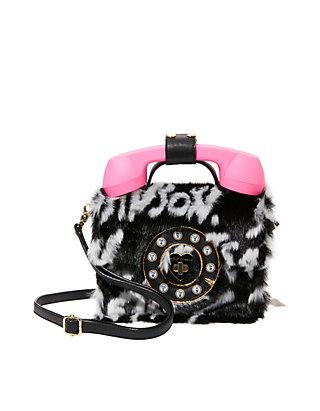 Twist Print School Backpack Curls Pink Black Multi Purpose Backpack