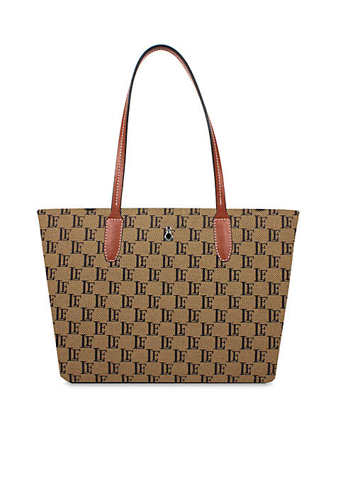 London Fog® Stafford Shopper Logo Jacquard Tote