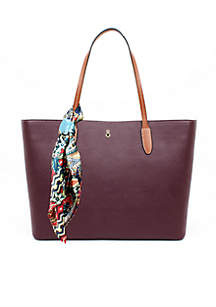 Smooth Leather Shopper Tote