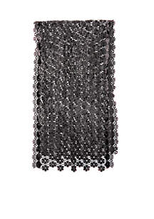 Sequin Scalloped Edge Crochet Evening Wrap