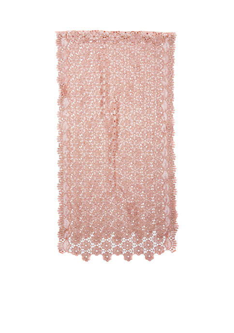 Cejon Sequin Scalloped Edge Crochet Evening Wrap